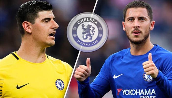 Thibaut Courtois Dan Eden Hazard Akan Meninggalkan Chelsea